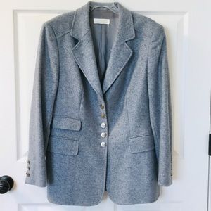 Escada Cashmere Blazer in beautiful smoky blue